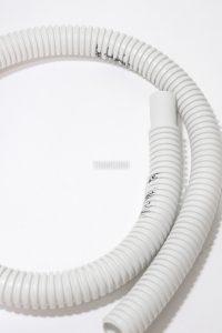 Mangueira de dreno do ar condicionado 1/2 branca corrugada  TRANSONI- 22084